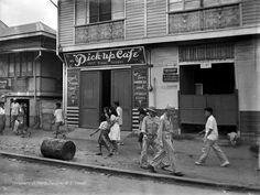 Pick-Up Cafe, 1437 Rizal Avenue, Manila, Philippines, 1945 Philippines Culture, Manila Philippines, Philippines Travel, Filipino Culture, Filipino Art, Chinese Culture, Olongapo, Cancun Hotels, Beach Hotels