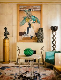 Art Deco style painting & room /Jérôme Galland Photo