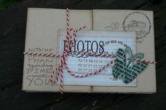 Le scrap de Lalaith: Mini album façon colis postal II - Version en MME Miss Caroline - Réédition du kit chez Scrapfuté