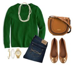 """""""#176 Christmas Eve"""" by ultimateprep on Polyvore featuring J.Crew, Abercrombie & Fitch, Tory Burch, STELLA McCARTNEY, Michael Kors, Kate Spade and Blue Nile"""