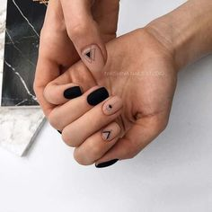 21 Edgy Matte Black Nails to inspire you . 21 Edgy Matte Black Nails to inspire you Matte Black Nails, Black Nail Art, Black White Nails, Matte Gel, Black Nail Polish, Matte Pink, Black Nail Designs, Nail Art Designs, Short Nail Designs