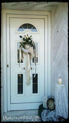 Στολισμός στην εισοδο του σπιτιού του γαμπρού! Home Wedding Decorations, Wedding Wreaths, Pinterest Home, Wedding Pinterest, Star Wedding, Diy Wedding, Home Interior, Interior Decorating, Wedding Doors