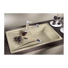 CHIUVETA DE BUCATARIE BLANCO SONA 5 S ALUMETALIC SILGRANIT REVERSIBILA INCORPORABILA - Iak Kitchen Accessories, Innovation, Sink, Appliances, Home Decor, White People, Granite Counters, Sink Tops, Gadgets