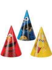 Sesame Street Party Hats 8ct - Party City