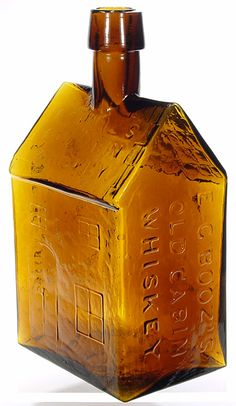 E G Booz golden amber Antique Glass Bottles, Vintage Bottles, Bottles And Jars, Glass Jars, Vintage Packaging, Blue Bottle, Wine And Beer, Carnival Glass, Glass Collection