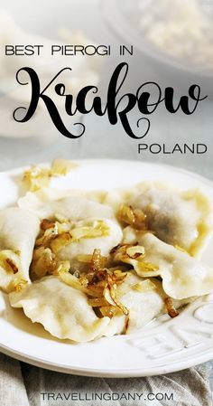 Let's find out what are the best pierogi in #krakow and other delicious Polish foods. With tips on cheap restaurants and what to eat. #poland #polish #food Pierogi | Krakow | Krakow food tour | Food blog | What to eat in Krakow | Polish dishes | Beer in Krakow