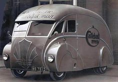 Holland coachcraft--Art Deco Americabymotorcyclebook.com Not intended to be a camper...but it could be!