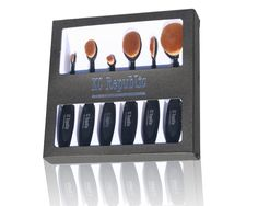 6 Pcs Super Soft Spoon Oval Toothbrush Kabuki Makeup Brush Set Foundation Brushes Contour Powder Blush Concealer Brush Makeup Cosmetic Tool Set Black. Contour and Blend Makeup Perfectly with Thousands of micro-fine, ultra-soft bristles are densely packed for the most flawless, porcelain finish in a flash. High Quality Synthetic Hair Provides Superb Ability To Hold Powder, Liquid and Creams. Compatible with any type of foundation like BB Cream, powder, blush, etc. Dome-shaped, angled brush...