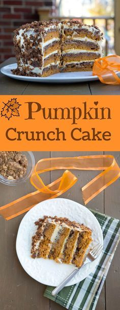The Original Pumpkin Crunch Cake with Cream Cheese Frosting recipe! This is the cake you see all over the internet. And believe me when I tell you it will be the best cake you've ever tasted! In fact, your family and friends will verify that statement Fall Desserts, Just Desserts, Delicious Desserts, Dessert Recipes, Baking Desserts, Drink Recipes, Pumpkin Recipes, Fall Recipes, Holiday Recipes