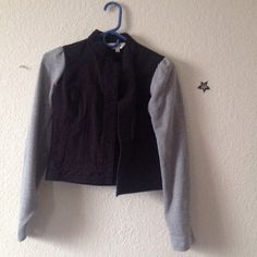 Two tone Jacket No button, other then that good condition. Sweater type sleeve. Forever 21 Jackets & Coats Jean Jackets