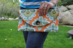 How to sew a basic clutch, tutorial diy
