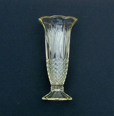 1930s Pressed Glass Celery Vase Made in England by BiminiCricket