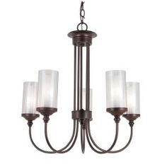 Dining Room Lighting Fixture  Filament Design Stewart 5-Light Ceiling Rubbed Oil Bronze Incandescent Chandelier-CLI-WUP6588751 at The Home Depot