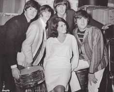 9th August 1964. The Beatles with support singer Cherry Rowland at the Futurist…
