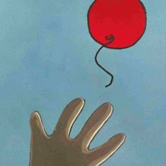 Balloon has gone away from child hand.