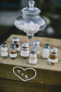 Assorted Popcorn Salts | Emily Delamater Photography | Theknot.com