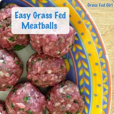 These Easy Paleo Grass Fed Meatballs are like a warm hug after a long day.. You can make them ahead of time & just pop them in the sauce at the last minute or you can leave them simmering in your crock pot. This easy dish will fill you up without filling you out.