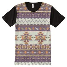 Shop Colorful aztec pattern All-Over-Print T-Shirt created by boutiquey. Personalize it with photos & text or purchase as is! Aztec T Shirts, Printed Shirts, Stylish Shirts, S Shirt, Custom Design, Tunic Tops, Colorful, Sleeves, Pattern