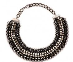 Looking for a new kind of statement necklace? Thick chokers or collars are bold, without being having unnecessary movement. Collars, Beaded Necklace, Chokers, Magazine, Fall, Winter, Leather, Crafts, Accessories