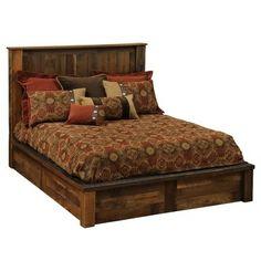 barnwood crafts | Fireside Lodge Barnwood Traditional Panel Bed | Wayfair