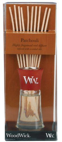WoodWick Patchouli Mini Reed Diffuser by WoodWick®. $10.99. Woodwick reed diffusers feature highly concentrated fragrances infused with essential oils. Fragrance without the flame. Classic scent of patchouli with hints of sweet vanilla and true amber.