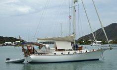 'Sea Lion', a Shearwater 39 on a mooring in Jolly Harbour, Antigua