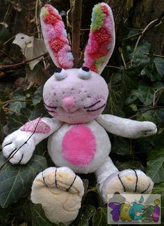 soft plush bunny white plush bunnygift for by FREZIdoll on Etsy