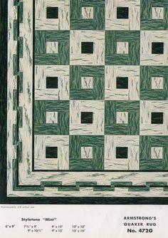 1950s armstrong linoleum rug.  Repinned by Secret Design Studio, Melbourne. www.secretdesignstudio.com