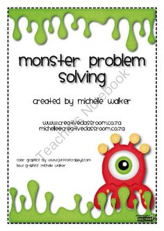 FREE Monster Math Problem Solving from Creative Classroom on TeachersNotebook.com -  (7 pages)