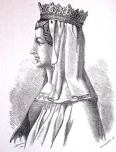 Margarete Valdemarsdatter. Tegning av Hans Peter Hansen fra Niels Baches' utgivelse Nordens historie fra 1884