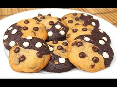 Galletas Doble Chocolate Chip | Swirl Cookies - YouTube