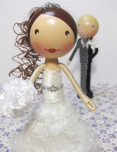 Photo DIY Clothespin Doll, Wedding, by enchantedbelles - URL isn't right.
