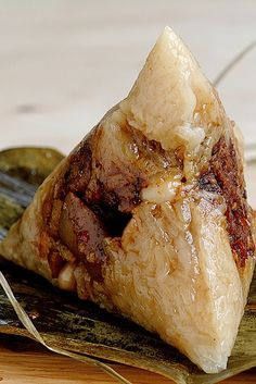 Cantonese Rice Dumplings Stuffed w/ Pork Belly & Shiitake Mushrooms (via Pick Yin)
