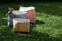 Cute and colorful baskets to help you tidy up any space in a snap and leave it looking bright and cheery. Tidy Up, Storage Baskets, Little Ones, Canning, Outdoor Decor, Fabric, Tejido, Tela, Cloths