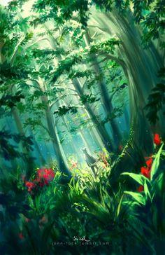 In the Forest by Jon-Lock.deviantart.com on @deviantART