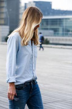 Classic blouse & jeans #ladozzina.com