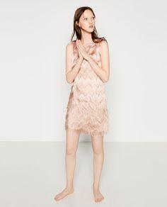 Image 1 of FRINGED DRESS from Zara