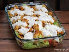 Kliknij i przeczytaj ten artykuł! Coleslaw, Aesthetic Food, Kraut, Feta, Great Recipes, Salad Recipes, Potato Salad, Cabbage, Grilling