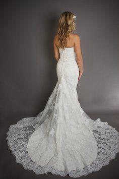 2ec7fe45aea2 Pronovias Diamond Silk White Lace India (2006 Line) Wedding Dress Size 6  (S) 43% off retail. Abiti Da SposaPizzo ...