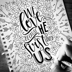 We #love because He first loved us. By @shannonroberts19. 1 John 4:19 #1john419 • Tag us and use #communionize to be featured #typography #calligraphy #lettering #handlettering #creative #design #sketch #inspiration  #christ #christianity #christian #bible #jesus #pray #communion #godsword #devout #amen #faith #god #gospel #grace #holy #redemption #sermon #blessed