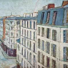 (1) Vintage Maurice Utrillo Parisian Cityscape - Rue De La Jonquiere – In The Vintage Kitchen Shop New York Art, Abstract Shapes, French Artists, Great Artists, Lovers Art, Home Art, Attic Window, Parisian, Painting Prints