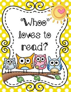 Owl Themed Reading Motivational Posters.  Cute and colorful!  $