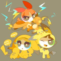 Even the Powerpuff Girls are Pokémon Trainers. That gives me an idea for a drawing. Anime Kawaii, Kawaii Cute, Cartoon Network Powerpuff Girls, Power Puff Girls Z, Super Nana, Powerpuff Girls Wallpaper, Pokemon Crossover, Ppg And Rrb, Cartoon Shows