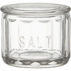 salt cellar, glass - crate and barrel