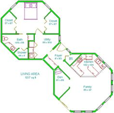 11 Best hexagon floor plan images | House plans, Dome house ... Anic Dome Window For House Plan on