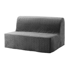 IKEA - LYCKSELE LÖVÅS, Sleeper sofa, Vallarum gray, -, , Cover made of extra durable polyester with a quilted, soft texture.A simple, firm foam mattress for use every night.Easily converts into a bed big enough for two.The cover is easy to keep clean as it is removable and can be machine washed.Extra covers make it easy to give both your sofa and room a new look.