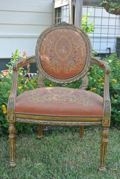 Antique French Chair Available to be Customized by ChairWhimsy, $450.00
