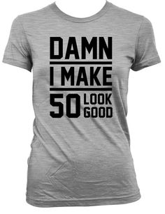50th Birthday Gift For Women & Men Thanks for stopping by the Birthday Suit Shop! Celebrate life's greatest moments with our customized apparel.