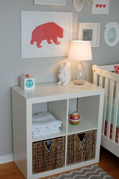 Diy nursery storage ideas baby clothes storage and display project nursery.