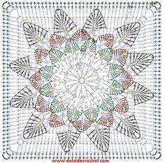 patron-cuadro-girasol-crochet.jpg (647×643)